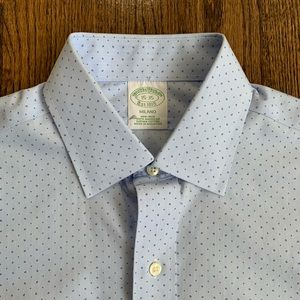 Brooks Brothers Milano Blue Dotted Shirt
